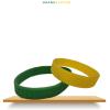 ADO Armbandje Siliconen Glow-in-the-dark Geel/Groen