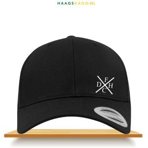 FCDH Cap Kruis zwart voorkant