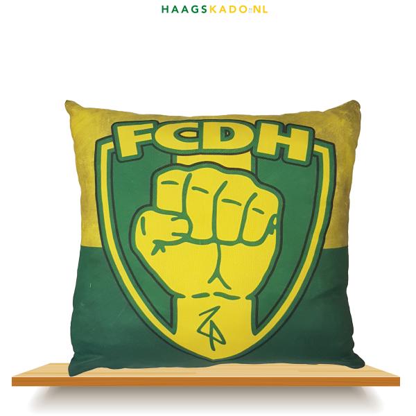 FCDH Kussen Geel Groen