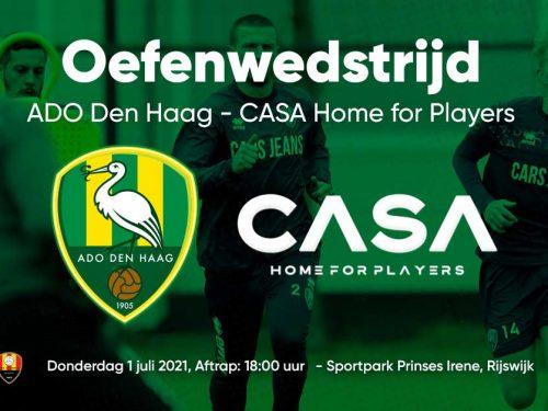 ADO Den Haag speelt eerste oefenwedstrijd tegen CASA Academy op Sportpark Prinses Irene